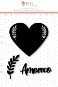 Enfeite Blackboard Amoreco - Coleção Espalhando Amor - Juju Scrapbook