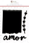 Enfeite Blackboard Bilhetinho - Coleção Cartas para Você - Juju Scrapbook
