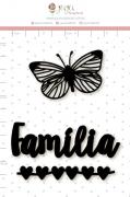 Enfeite Blackboard Família  - Juju Scrapbook