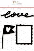 Enfeite Blackboard Moldurinha - Coleção Cartas para Você - Juju Scrapbook