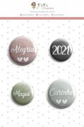 Enfeite Botton Magia 2021 - Coleção Toda Básica - JuJu Scrapbook