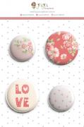 Enfeite Bottons Chuva de Amor - Coleção Cartas para Você - JuJu Scrapbook