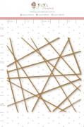Enfeite Chipboard Adesivado Linhas - Coleção Nosso Herói - Juju Scrapbook