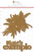 Enfeite Chipboard Adesivado Maior Exemplo - Coleção Nosso Herói - Juju Scrapbook