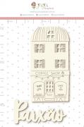 Enfeite Chipboard Branco Paixão - Coleção Espalhando Amor - Juju Scrapbook