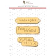 Enfeite Madeirinha Adesivada Recordações - Coleção Tempo de Celebrar - Juju Scrapbook