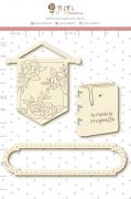 Enfeite Chipboard Branco Mundo da Imaginação - Coleção Quarentena Criativa - Juju Scrapbook
