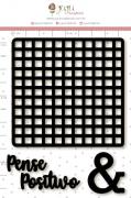 Enfeite Blackboard Pense Positivo - Coleção Quarentena Criativa - Juju Scrapbook