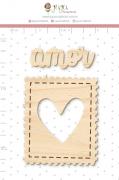 Enfeite Pinus Selo do Amor  - Coleção Cartas para Você - Juju Scrapbook