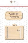 Enfeite Pinus Viagem em Família  - Coleção Família para Sempre - Juju Scrapbook