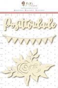 Enfeite Chipboard Branco Positividade - Coleção Quarentena Criativa - Juju Scrapbook