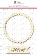 Enfeite Chipboard Branco Sorria - Coleção Quarentena Criativa - Juju Scrapbook