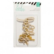 Enfeite Wood Veneer Dourado e Prateado - Heidi Swapp