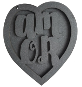 Álbum Amor - estrutura em chipboard preto