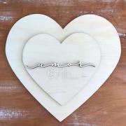 Estrutura Corações + Amor - Juju Scrapbook
