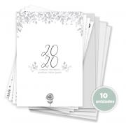 Kit 10 unidades Agenda Datada - Coleção Toda Básica / JuJu Scrapbook