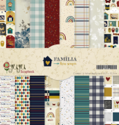 Kit Coordenado - Coleção Família para Sempre - JuJu Scrapbook