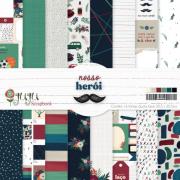 Kit Coordenado - Coleção Nosso Herói - JuJu Scrapbook