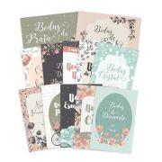 Kit de Cards Bodas de Amor G - Coleção Felizes para Sempre / JuJu Scrapbook