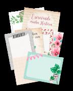 Cards Escrevendo a Minha História - Coleção Quarentena Criativa - Juju Scrapbook