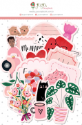 Kit de Die Cuts Quero Cafuné - Coleção Espalhando Amor - JuJu Scrapbook