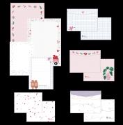 Kit de Papel de Carta - Coleção Espalhando Amor - JuJu Scrapbook