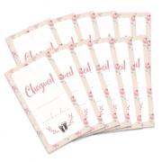 Kit de Tags Cheguei! Modelo Flor - Coleção Meu Coração é Seu / JuJu Scrapbook