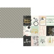 Coleção Beautiful - Simple Stories / Papel 3x4 Journaling Cards Elements