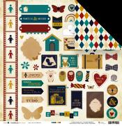 Papel Baú de Memórias - Coleção Família para Sempre - JuJu Scrapbook