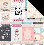 Papel Girl Boss - Coleção Quarentena Criativa - JuJu Scrapbook