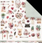 Papel Memórias - Coleção Sonho Meu - JuJu Scrapbook