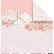 Papel Mensagem de Amor - Coleção Cartas para Você - JuJu Scrapbook