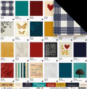 Papel Pantones da Família - Coleção Família para Sempre - JuJu Scrapbook