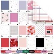 Papel Pantones do Amor  - Coleção Espalhando Amor - JuJu Scrapbook