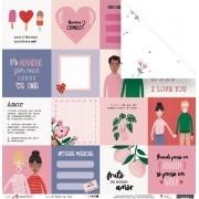 Papel Só penso em Você - Coleção Espalhando Amor - JuJu Scrapbook