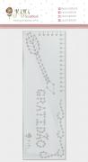 Régua de Costura Gratidão - Coleção Sonho Meu - JuJu Scrapbook