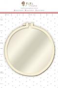 Shaker Chipboard Branco Bastidor - Coleção Quarentena Criativa - Juju Scrapbook