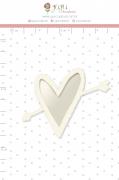 Shaker Chipboard Branco Apaixonado - Coleção Espalhando Amor - JuJu Scrapbook