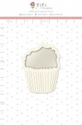Shaker Chipboard Branco Cupcake - Coleção Espalhando Amor - JuJu Scrapbook