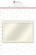 Shaker Chipboard Branco Moldura - Coleção Família para Sempre - JuJu Scrapbook
