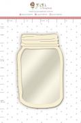 Shaker Chipboard Branco Pote - Coleção Quarentena Criativa - Juju Scrapbook