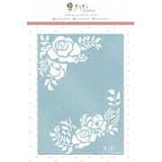 Stencil Cantoneira Floral - Coleção Sonho Meu - Juju Scrapbook