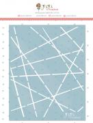 Stencil Linhas - Coleção Nosso Herói - Juju Scrapbook