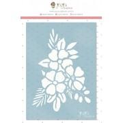 Stencil Ramo de Flor - Coleção Cartas para Você - Juju Scrapbook