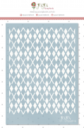 Stencil Xadrez - Coleção Família para Sempre - JuJu Scrapbook