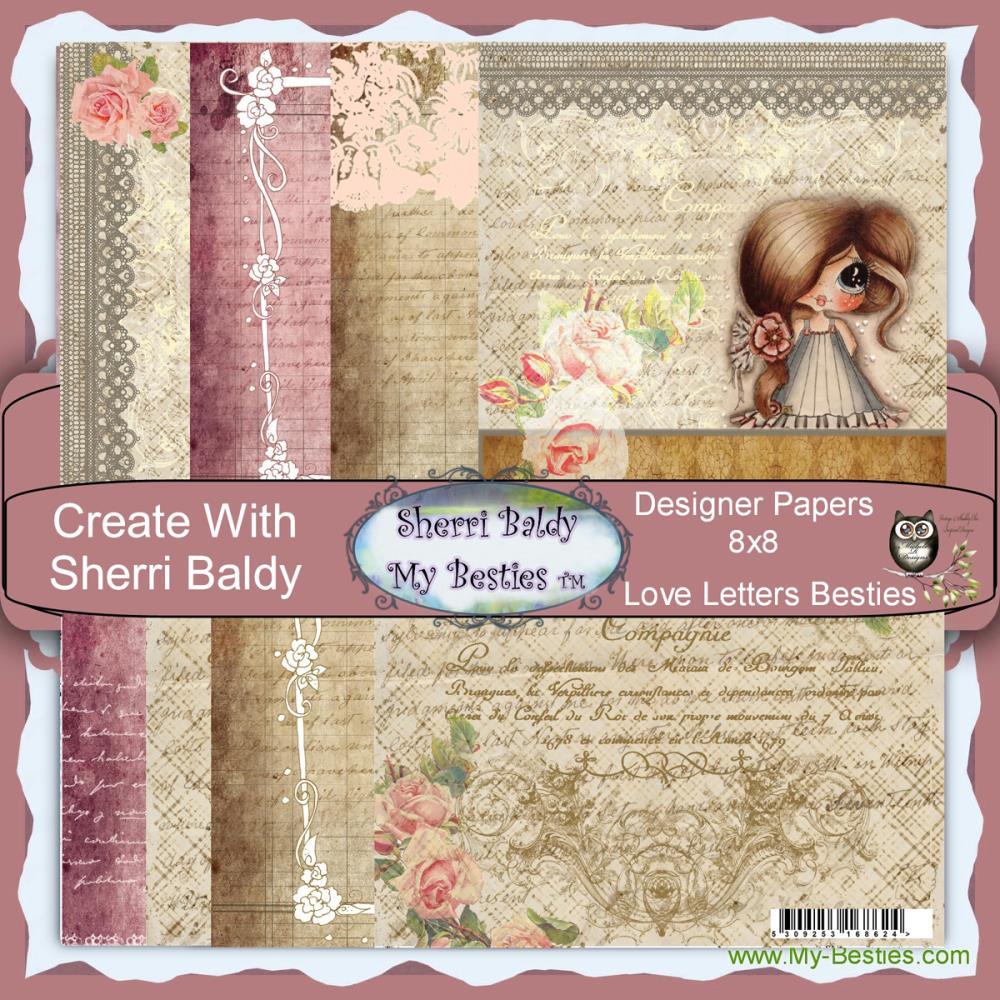 Papel My Besties - Love Letters Besties  - JuJu Scrapbook
