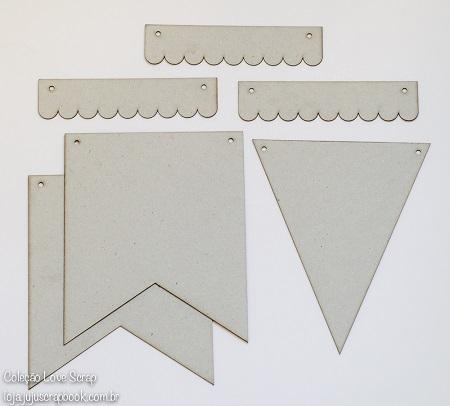 Kit de Bandeirinhas Love Scrap - JuJu Scrapbook / Kit 1002  - JuJu Scrapbook
