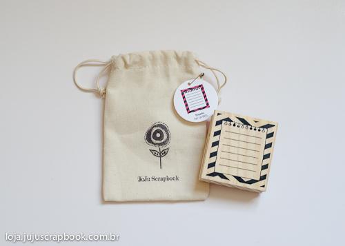 Carimbo Bilhetinho - Coleção Picnic - JuJu Scrapbook  - JuJu Scrapbook