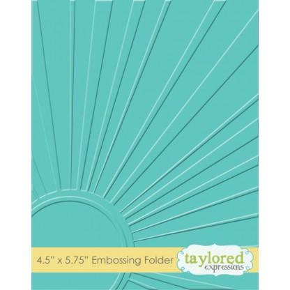 Placa para relevo - Walking on Sunshine/ Taylored Expressions  - JuJu Scrapbook