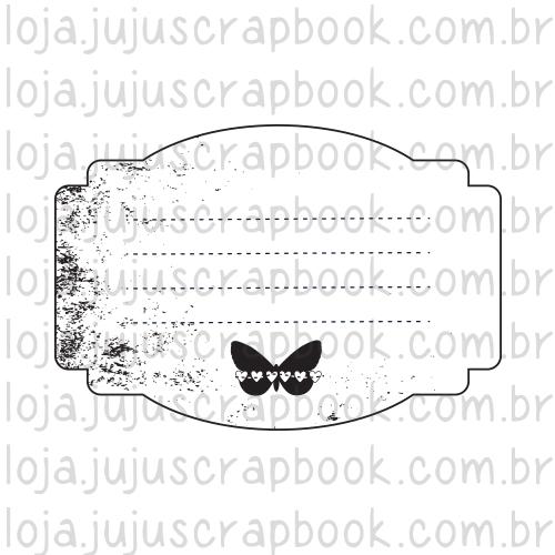 Carimbo Modelo  Journaling Borboleta - Coleção Família para Sempre / JuJu Scrapbook  - JuJu Scrapbook